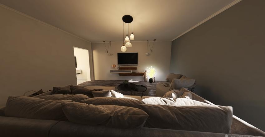 Copy of Proyecto dos plantas y quincho Interior Design Render