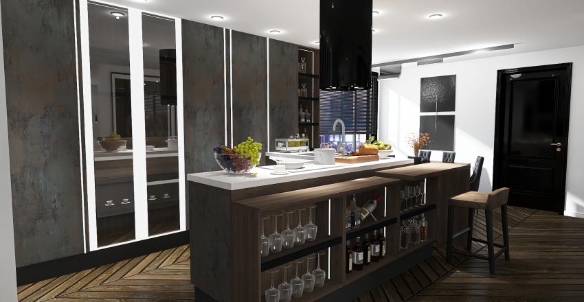 APARTAMENT MĘSKI Interior Design Render