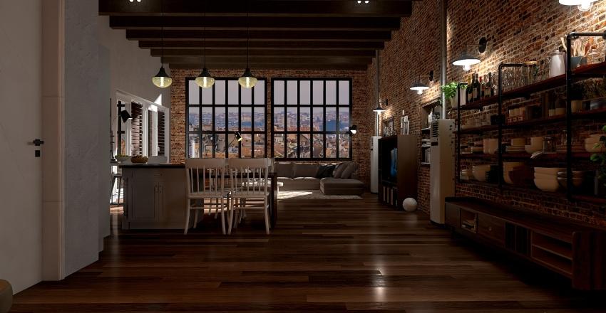 Old Building Loft - Interior Design Interior Design Render