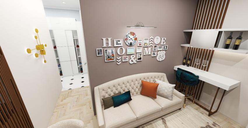 1BDR apartment Interior Design Render