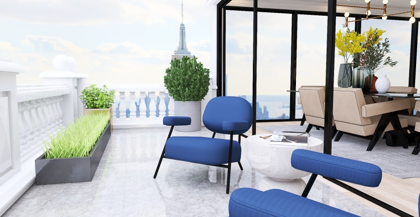 038| NY penthouse Interior Design Render