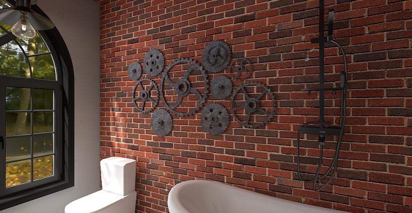 Loft industrial Interior Design Render