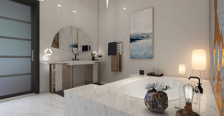 LA Mansion Interior Design Render
