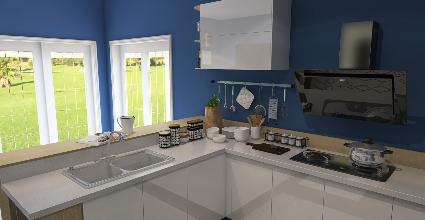 Kitchen and Laundry Room 6 x 4 Interior Design Render