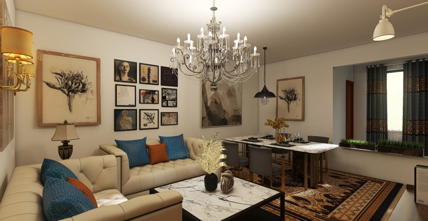Niš, Palilula Interior Design Render