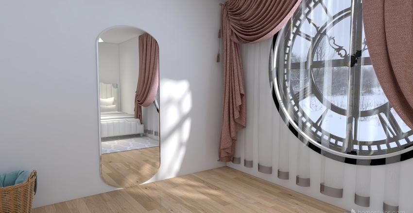 Clock Tower Window Interior Design Render