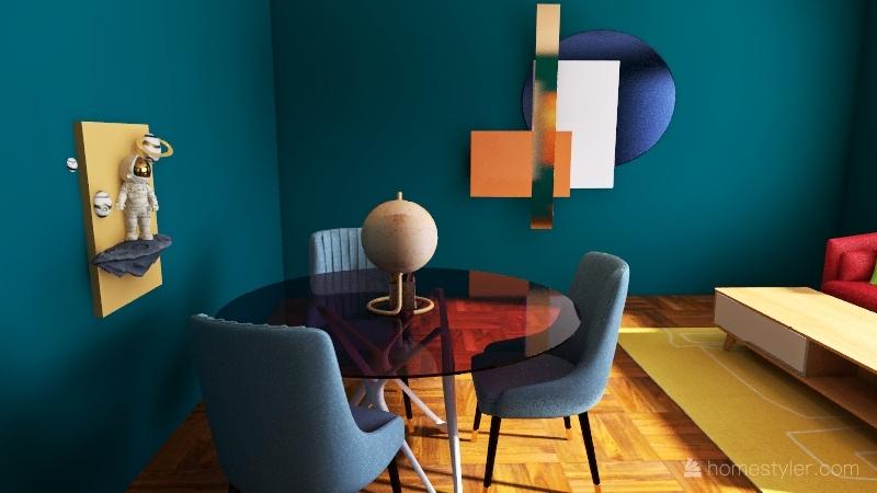 Bright Lights Interior Design Render