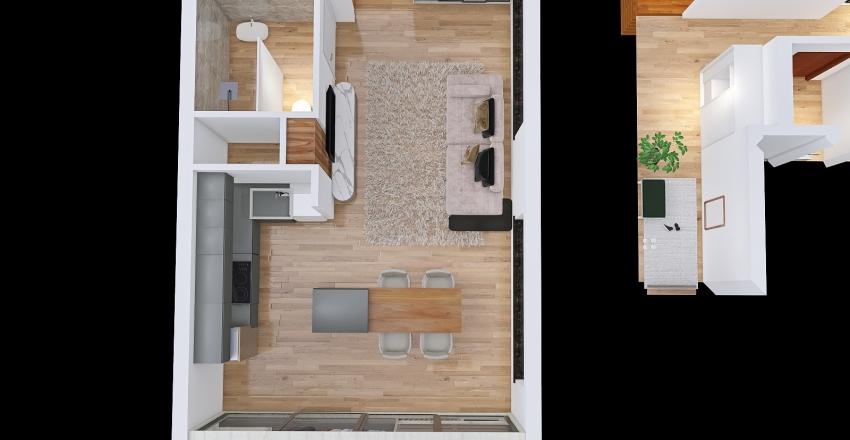 Copy of A souterrain apartment in Berlin Interior Design Render