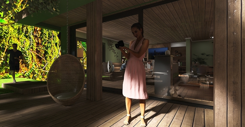 Zen House Interior Design Render