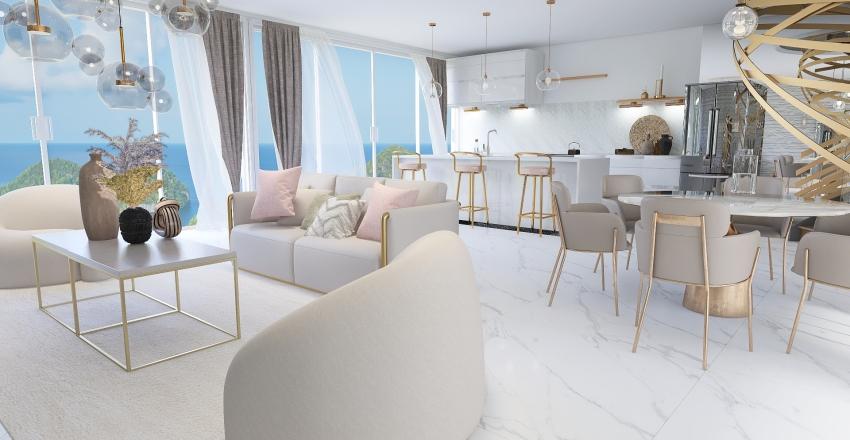 Beach apartment Interior Design Render