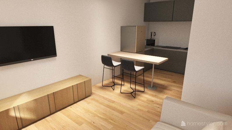 Flat 196 - Design 2 Interior Design Render