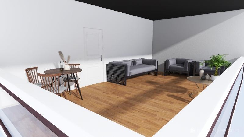 rustic Interior Design Render