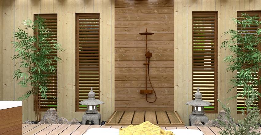 tropical resort Interior Design Render