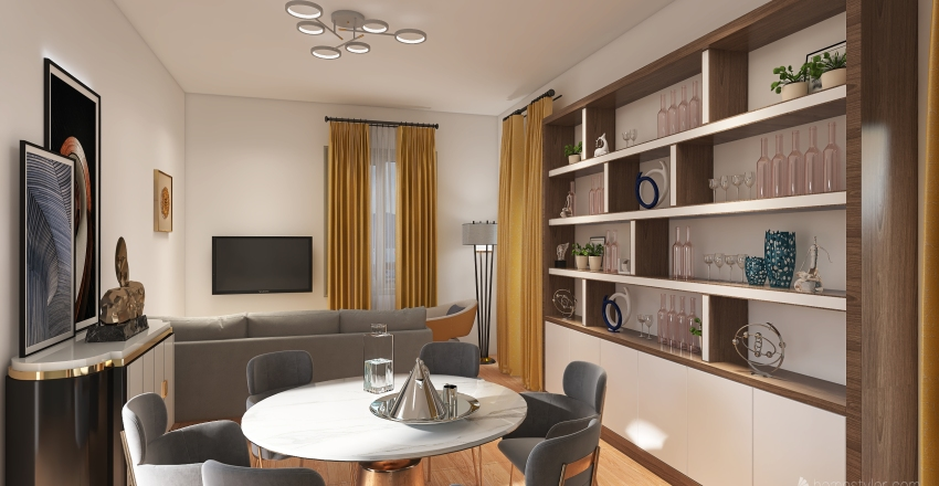 Bogliasco Interior Design Render