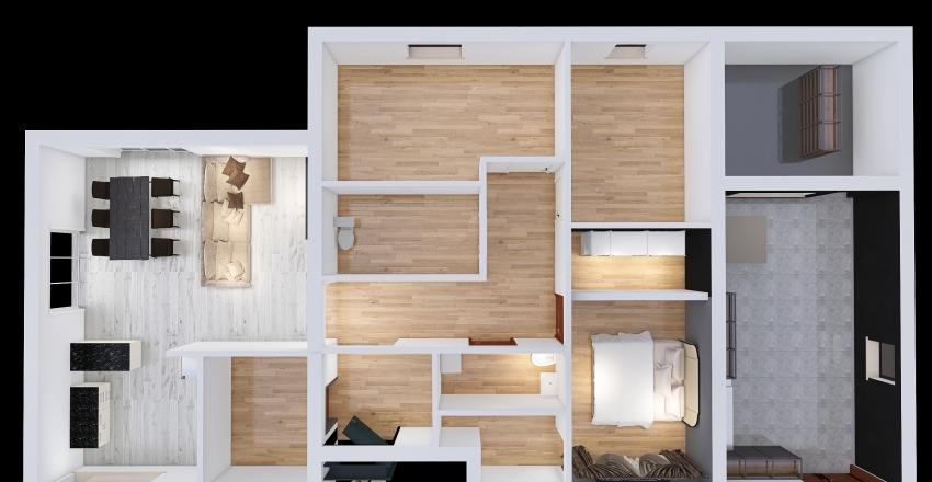 последний вариант - только дом Interior Design Render