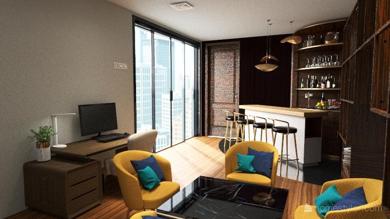 Lounge Room Interior Design Render