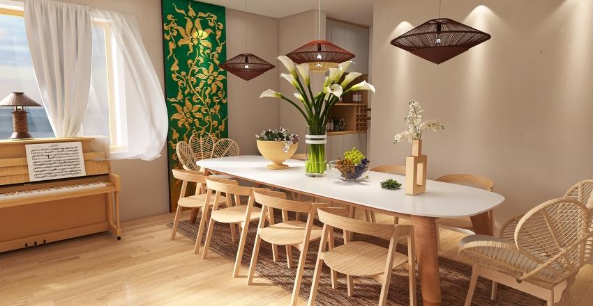 Free spirited Bohemian Interior Design Render