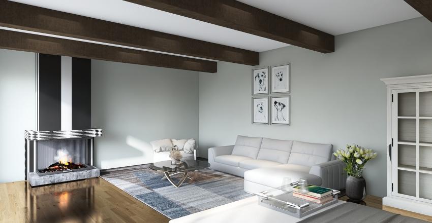 White Flat Interior Design Render