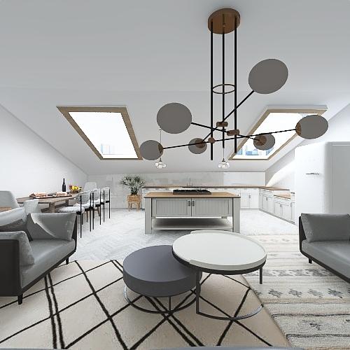 LOFT IN A CITY Interior Design Render
