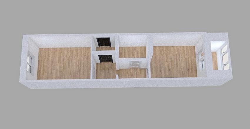 Семейный 33 кв.м. Interior Design Render