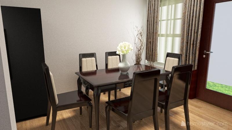 Copy of Casa habitación INFONAVIT Interior Design Render