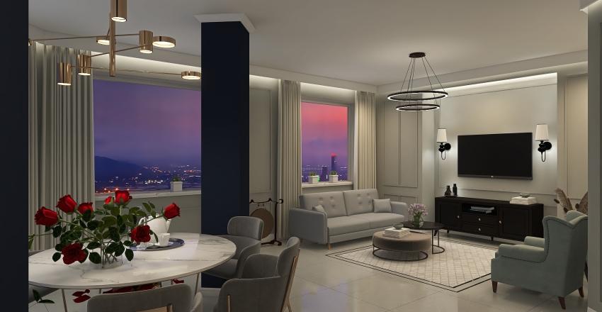Elegancki apartament  Interior Design Render