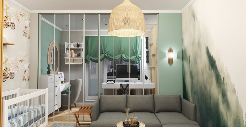 One bed apartments Interior Design Render
