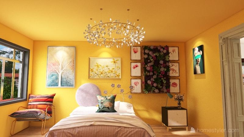 my FLORAL Bedroom Interior Design Render