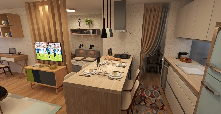 Campinas Studio Interior Design Render