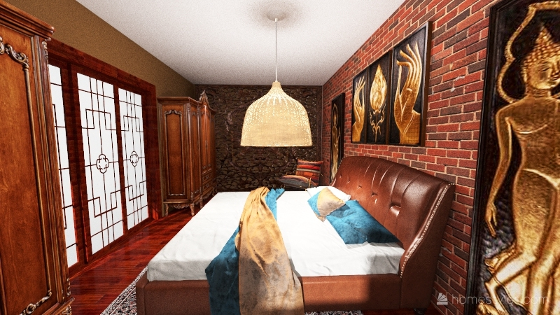 gode asian Interior Design Render