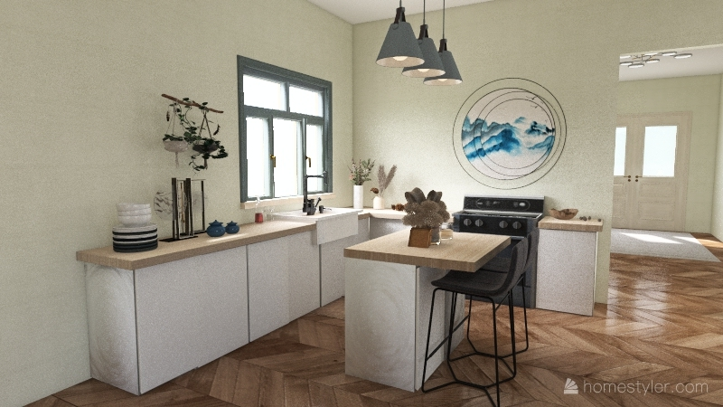 Beauty by the Seaside Interior Design Render