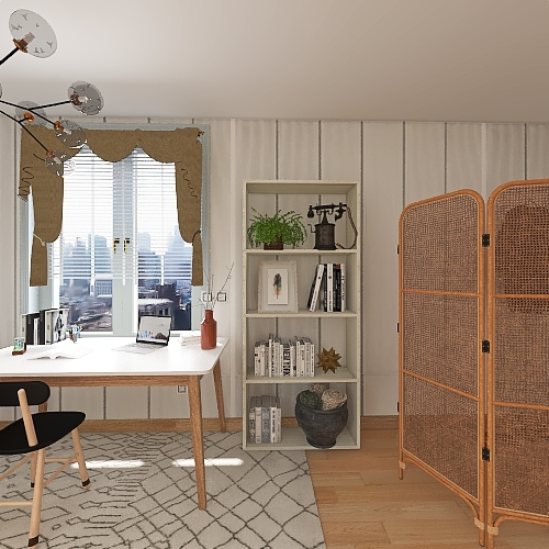 Industrial Cozy Flat Interior Design Render