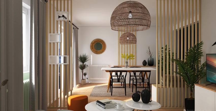 PROJET SÉJOUR - LOCATION Interior Design Render