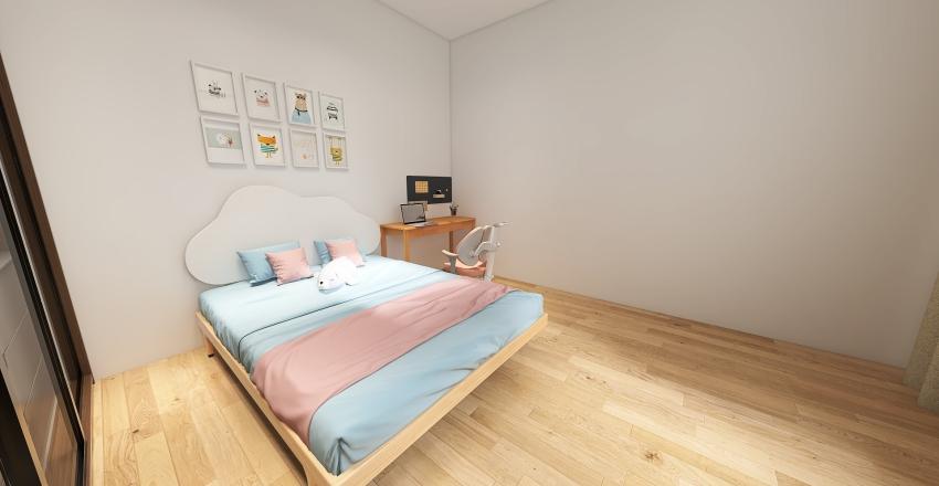 Cozy small home Interior Design Render