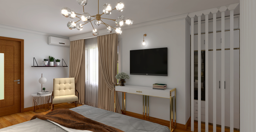 Bedroom classic design Interior Design Render