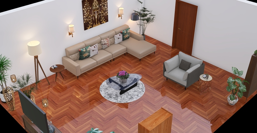 homestaging salon Interior Design Render