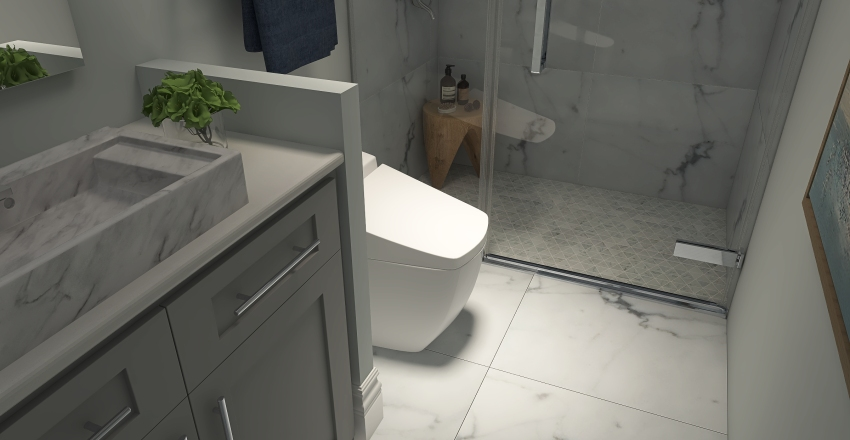 The Tealstone / Shook Bathroom Interior Design Render