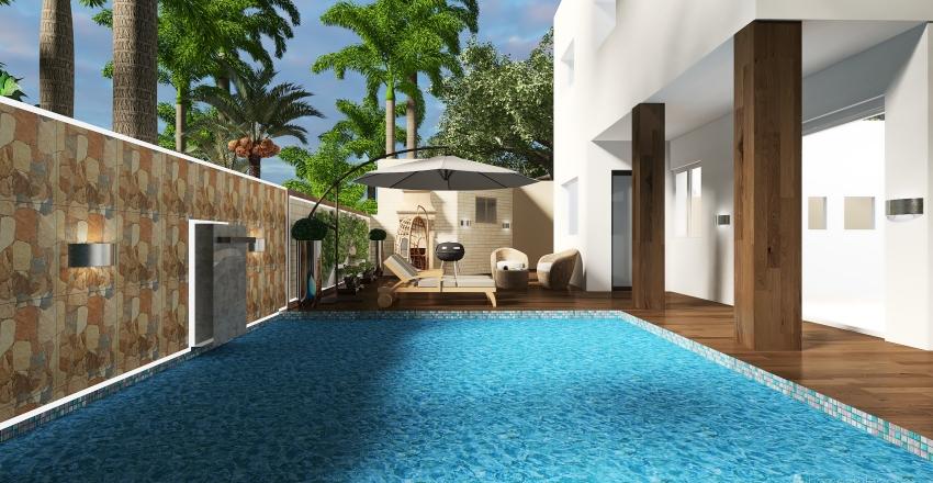 La Joconde Tropical - Tunsian House - Interior Design Render