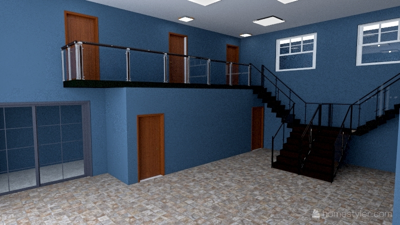 Barracão Guiana Interior Design Render