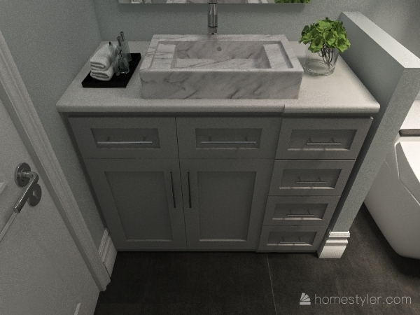 The Tealstone / Shook Bathroom Interior Design Render