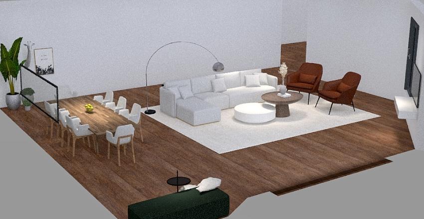 Ebtisam aloumi / Living + intrance Interior Design Render