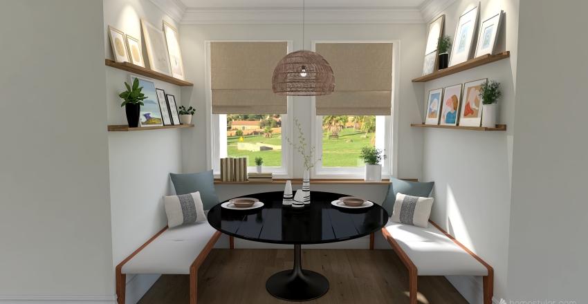 Modern Farmhouse Home Interior Design Render