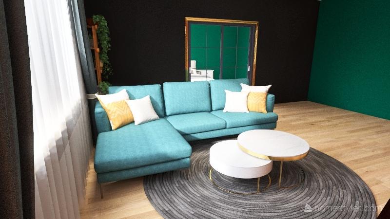 Salon w stylu Loft Interior Design Render