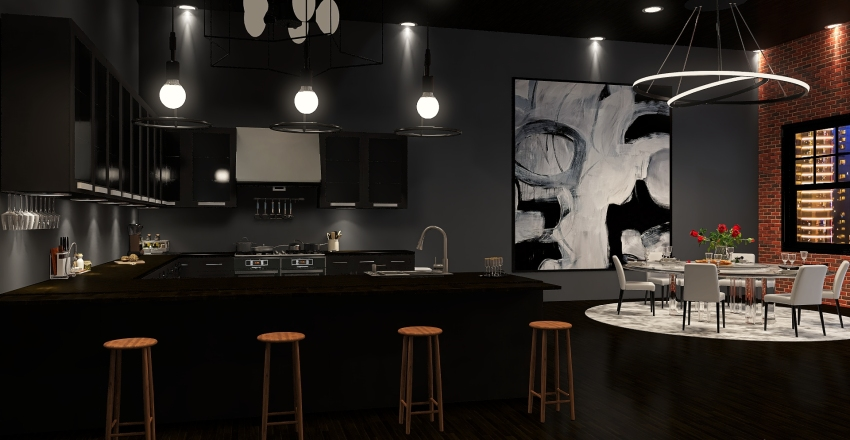 Industrial Apartment! Interior Design Render