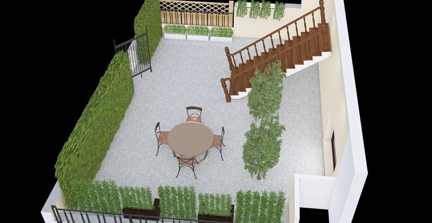Giardino retro Grosseto Interior Design Render