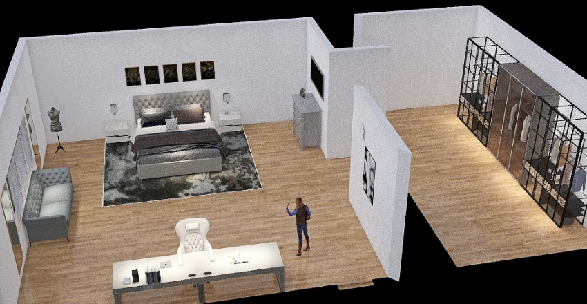 STANZA GRIGIA Interior Design Render