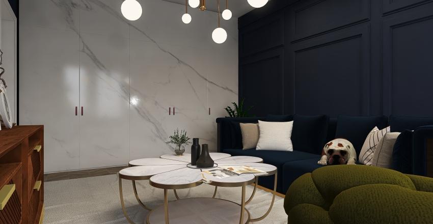 blue, blue, blue... Interior Design Render