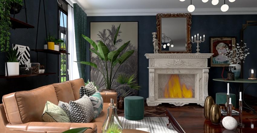 Retro dream. Interior Design Render