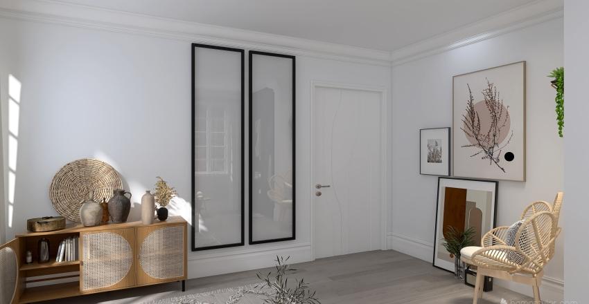 Earthy Tones Master Bedroom Interior Design Render