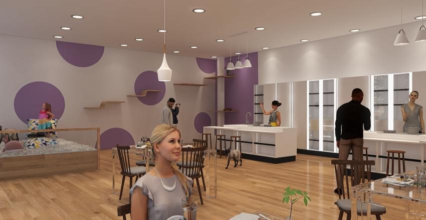 Cat Cafe! Interior Design Render